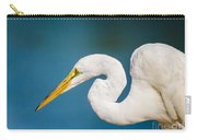 Egret On Blue Carry-all Pouch