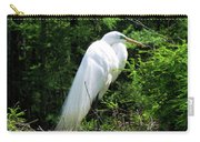 Egret On Guard Carry-all Pouch