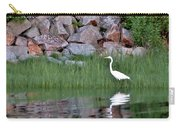 Egret On The Danvers River Carry-all Pouch