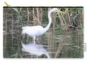 Egret On The Hunt Carry-all Pouch