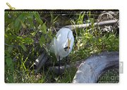 Egret With Crayfish Carry-all Pouch