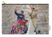 Egypt - Boy With A Camel Carry-all Pouch