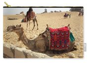 Egypt - Camel Getting Ready For The Ride Carry-all Pouch