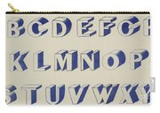 Egyptian For Carving Vintage Blue Font Design Carry-all Pouch