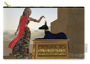 Egyptian Woman And Anubis Statue Carry-all Pouch