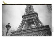 Eiffel Tower And Lamp Post Bw Carry-all Pouch