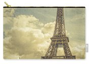 Eiffel Tower And Pont D'lena Vintage Carry-all Pouch