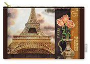 Eiffel Tower And Roses Carry-all Pouch
