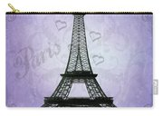 Eiffel Tower Collage Purple Carry-all Pouch