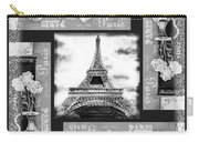 Eiffel Tower In Black And White Design I Carry-all Pouch