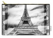 Eiffel Tower In Black And White Design II Carry-all Pouch