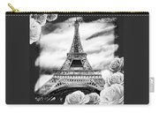 Eiffel Tower In Black And White Design IIi Carry-all Pouch