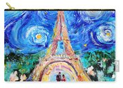 Eiffel Tower Starry Night Romance Carry-all Pouch