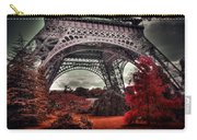 Eiffel Tower Surreal Photo Red Trees Paris France Carry-all Pouch