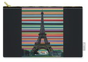 Eiffel Tower With Lines Carry-all Pouch by Carla Bank
