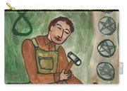 Eight Of Pentacles Illustrated Carry-all Pouch
