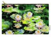 Eight #waterlilies Carry-all Pouch