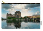 Eilean Donan Castle On A Cloudy Day Carry-all Pouch