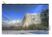 El Capitan Meadow Winter Yosemite National Park II Carry-all Pouch