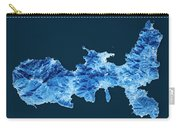 Elba Island Topographic Map Blue Color Top View Carry-all Pouch