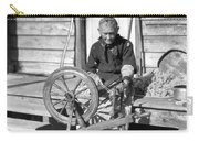 Elderly Woman Spinning Wool, C.1920s Carry-all Pouch
