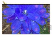 Electric Blue Flower Carry-all Pouch