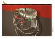Electric Drill Motor, Green Trigger On Colored Paper Carry-all Pouch