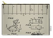 Electric Football Patent 1955 Aged Gray Carry-all Pouch