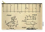 Electric Football Patent 1955 Sepia Carry-all Pouch