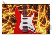 Electric Guitar With Sparks Carry-all Pouch