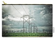 Electric Lines And Weather Carry-all Pouch