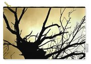Electric Tree Black And Gold Carry-all Pouch