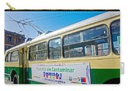 Electric Trolley Took Us To The Port In Valparaiso-chile  Carry-all Pouch