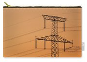 Electricity Pylon At Sunset  Carry-all Pouch