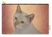Elegant Flame Point Siamese Carry-all Pouch