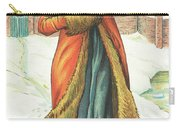 Elegant Lady In Snow, Christmas Card Carry-all Pouch