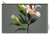 Elegant Lily And Buds Carry-all Pouch