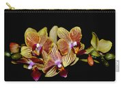 Elegant Orchid On Black Carry-all Pouch