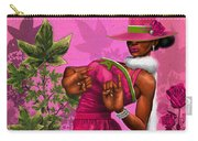 Elegant Pink And Green Carry-all Pouch