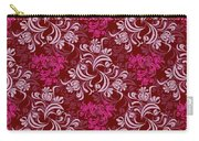 Elegant Red Floral Design Carry-all Pouch