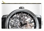 Elegant Watch With Visible Mechanism, Clockwork Close-up. Carry-all Pouch