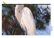 Elegant White Crane Carry-all Pouch