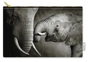 Elephant Affection Carry-all Pouch by Johan Swanepoel