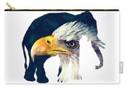 Elephant And Eagle Carry-all Pouch