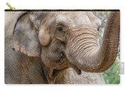 Elephant And Tree Trunk Carry-all Pouch