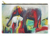 Elephant Baby And Mother Carry-all Pouch