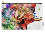 Elephant Colored Grunge Carry-all Pouch