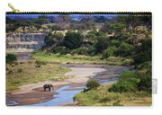 Elephant Crossing In Tarangire Carry-all Pouch