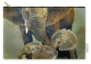 Elephant Familly Carry-all Pouch