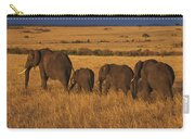 Elephant Family - Sunset Stroll Carry-all Pouch